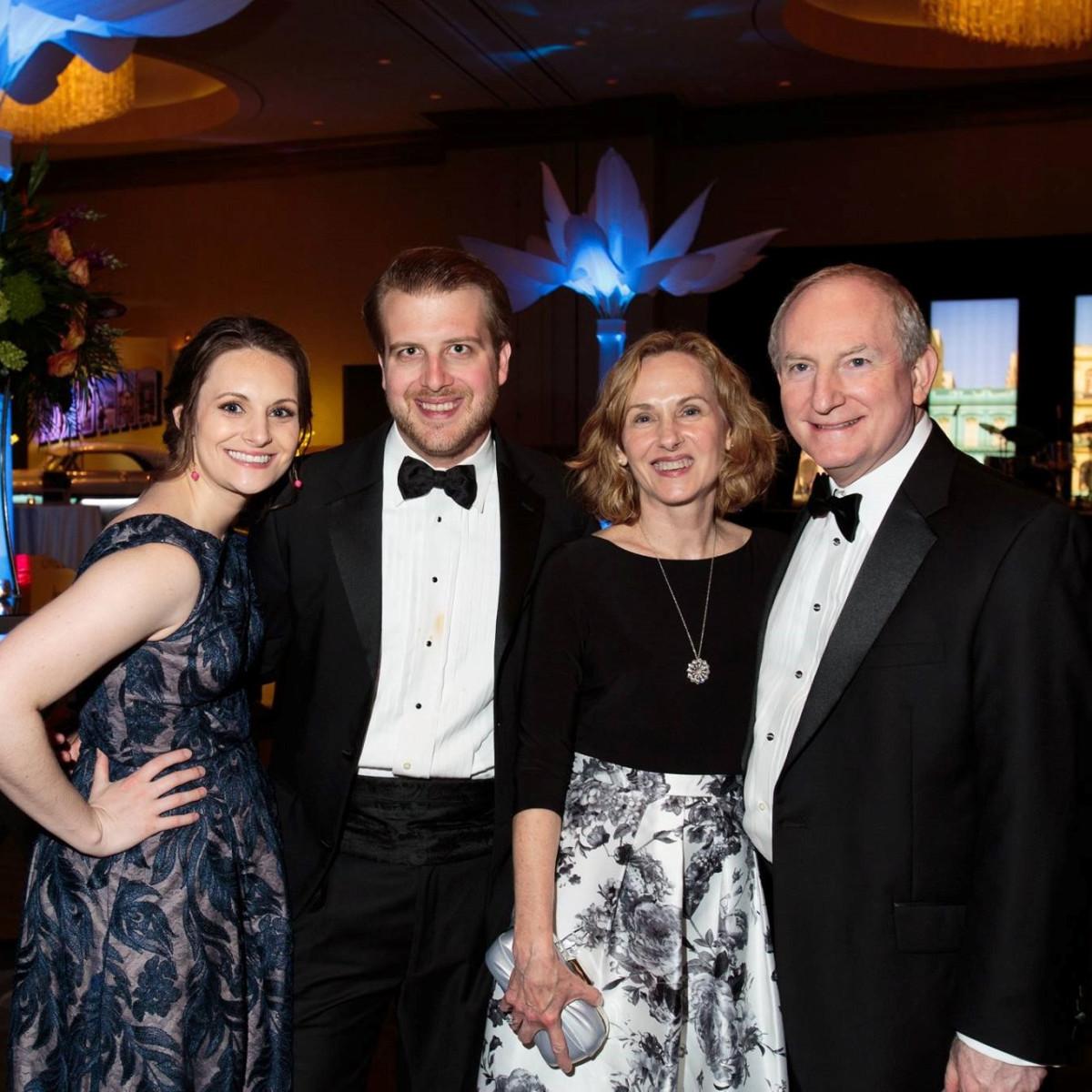 Amy Stone, Alex Jodry, Elizabeth Ann and Ken Stone, Slipper Club Havana Nights 2018