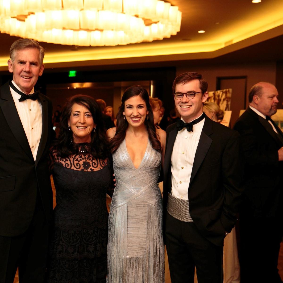 Robert and Debra Hitzelberger, DSOL President Kay Hitzelberger and Stuart R. Duenner, Slipper Club Havana Nights 2018