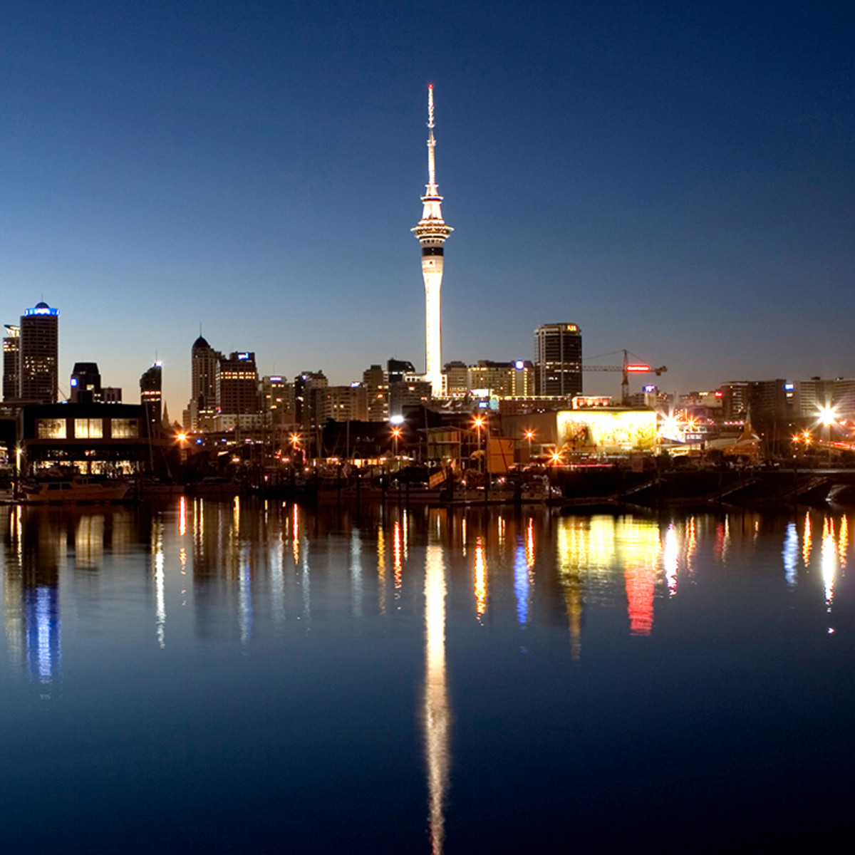 Auckland New Zealand at night