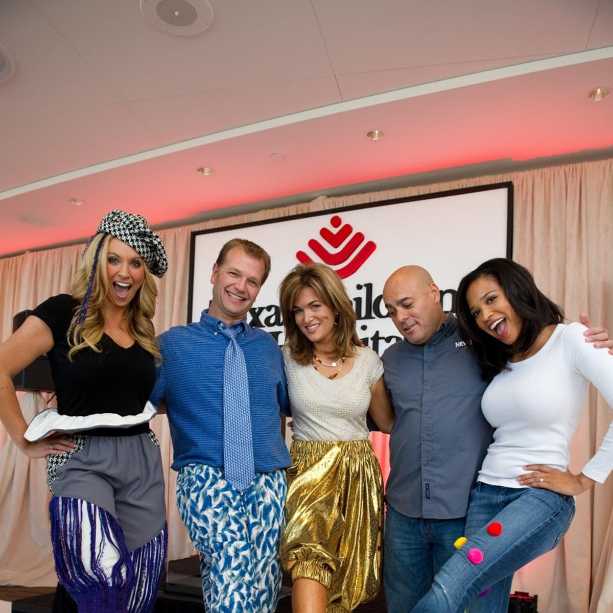 Bad Pants Fashion Show, Chita Johnson, Ned Hibberd, Jorge Vargas, Melissa Wilson, Mia Gradney, Texas Children's Hospital, 2012