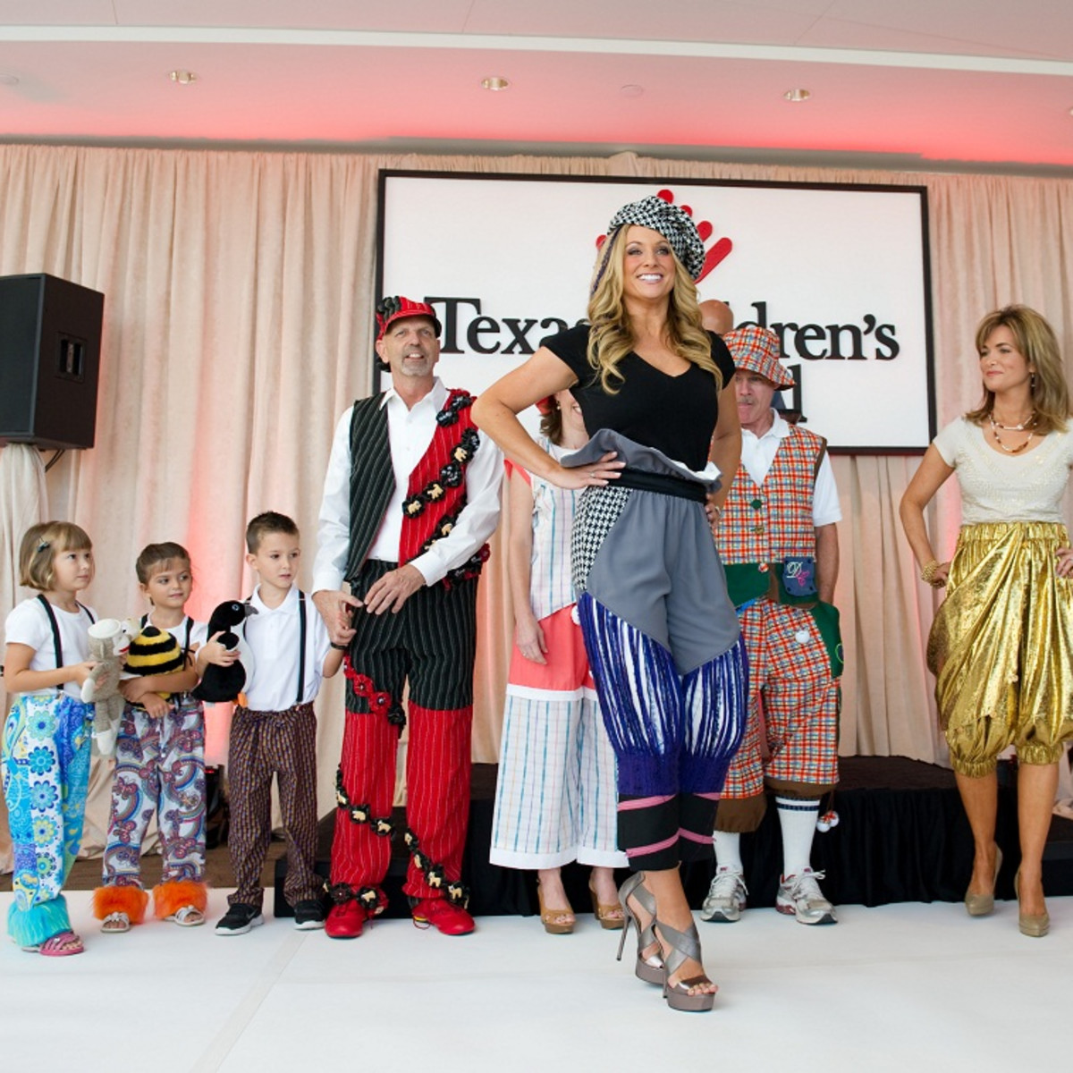 Bad Pants Fashion Show, Chita Johnson, Texas Children's Hospital, August 2012