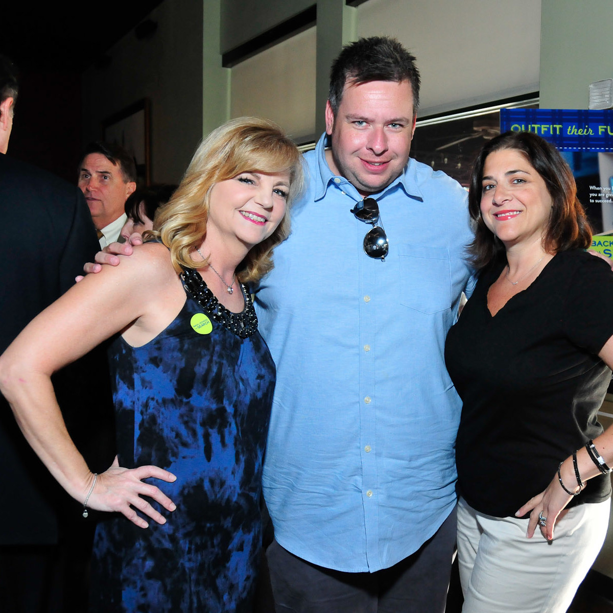 Back to School with SEARCH closing party August 2013 Kim Padgett, Chris Beverly, Lisa Gochman