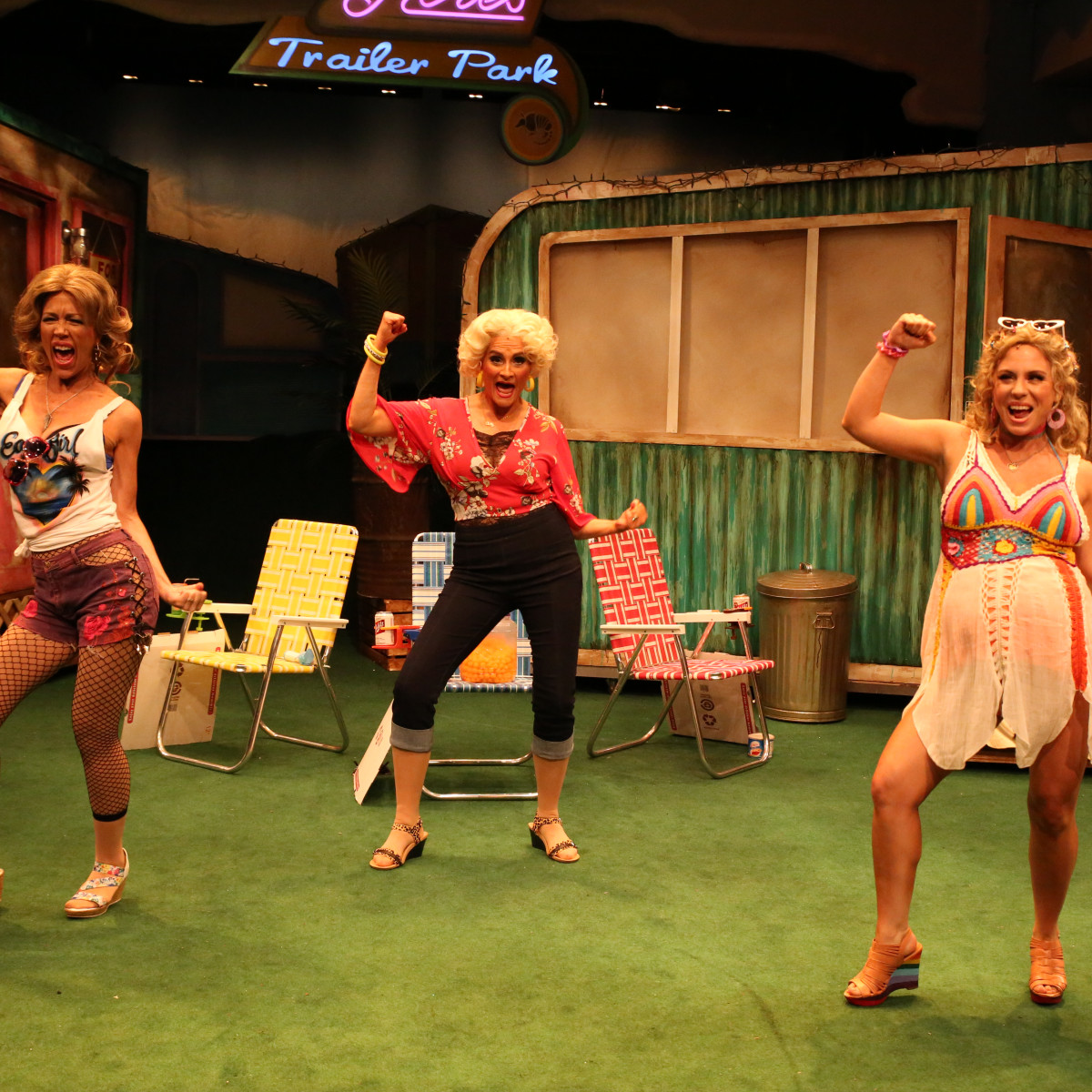 Stages Theatre: Trailer Park, Carolyn Johnson, Susan Koozin and Teresa Zimmermann