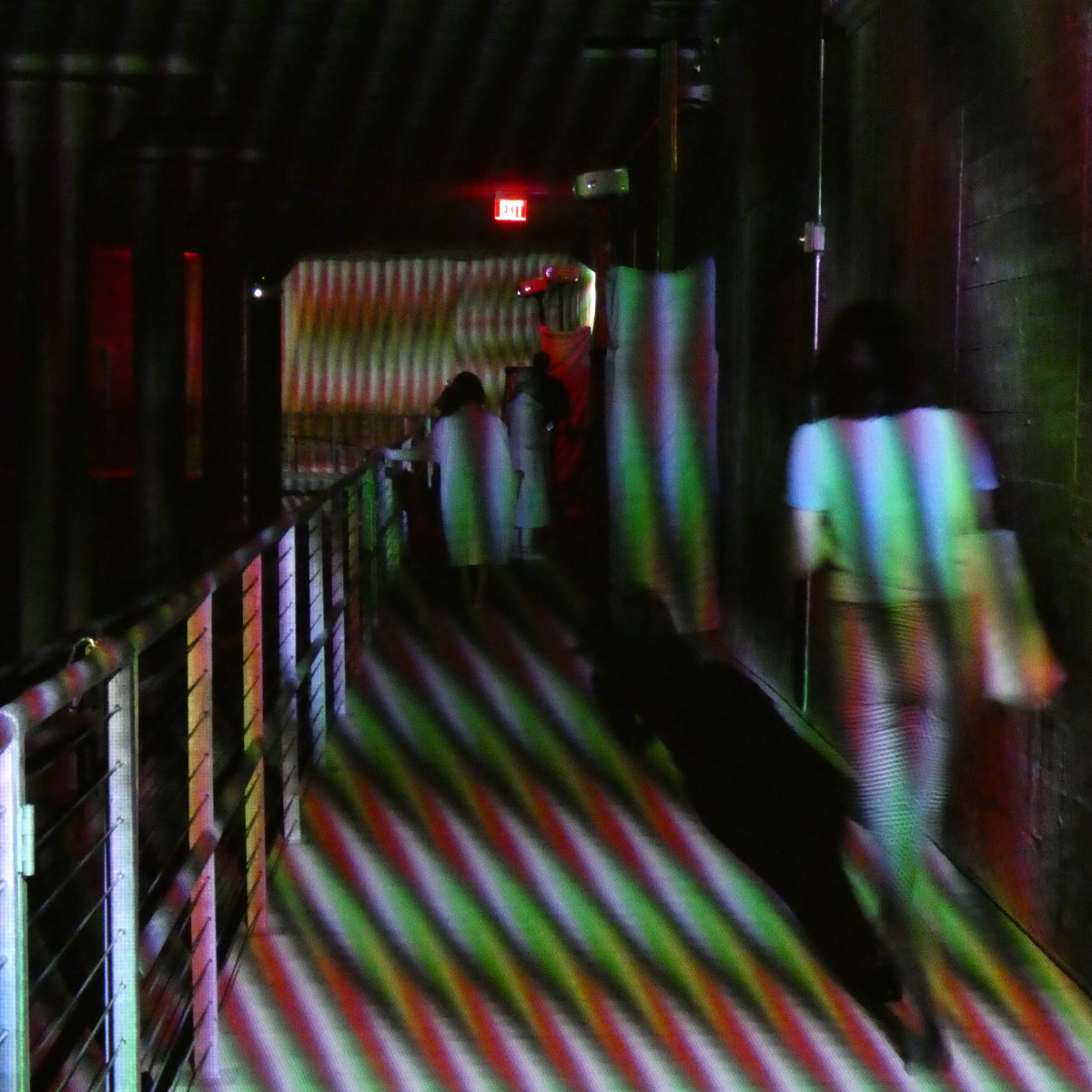 Carlos Cruz-Diez at the Cistern: Spatial Chromointerference/walkway