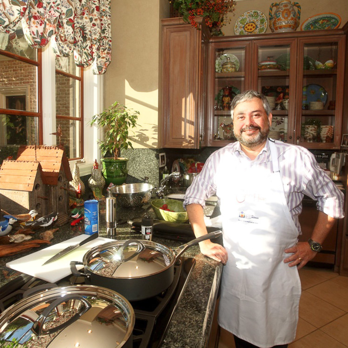 News_Chef Giuliano Hazan_in kitchen