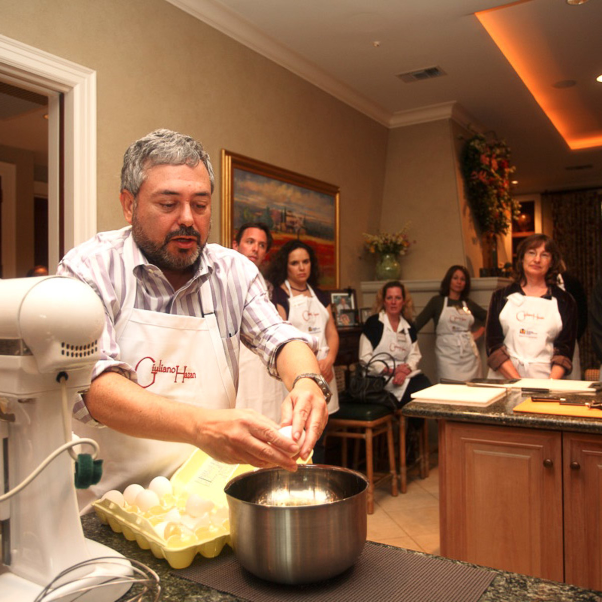 News_Chef Giuliano Hazan_cracking eggs