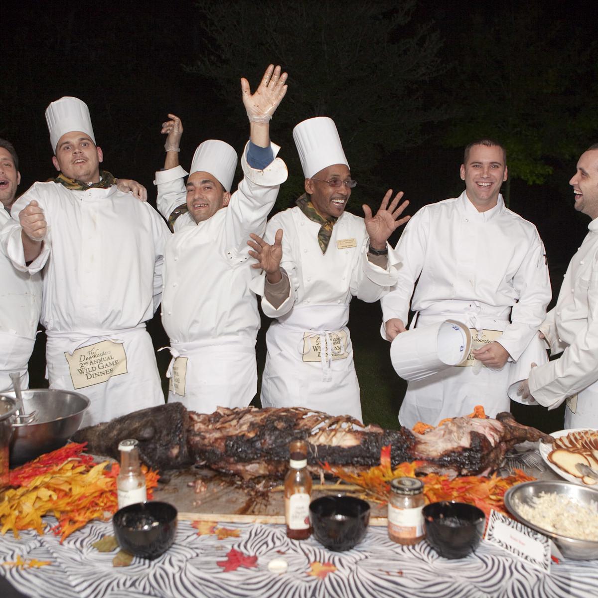 News_Wild Game Dinner Nov. 2009_chef assistants_Open Door Mission