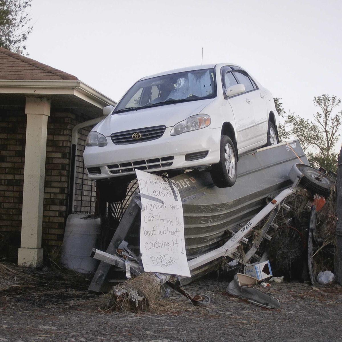 News_MFAH_Richard Misrach_After Katrina_Remove your car