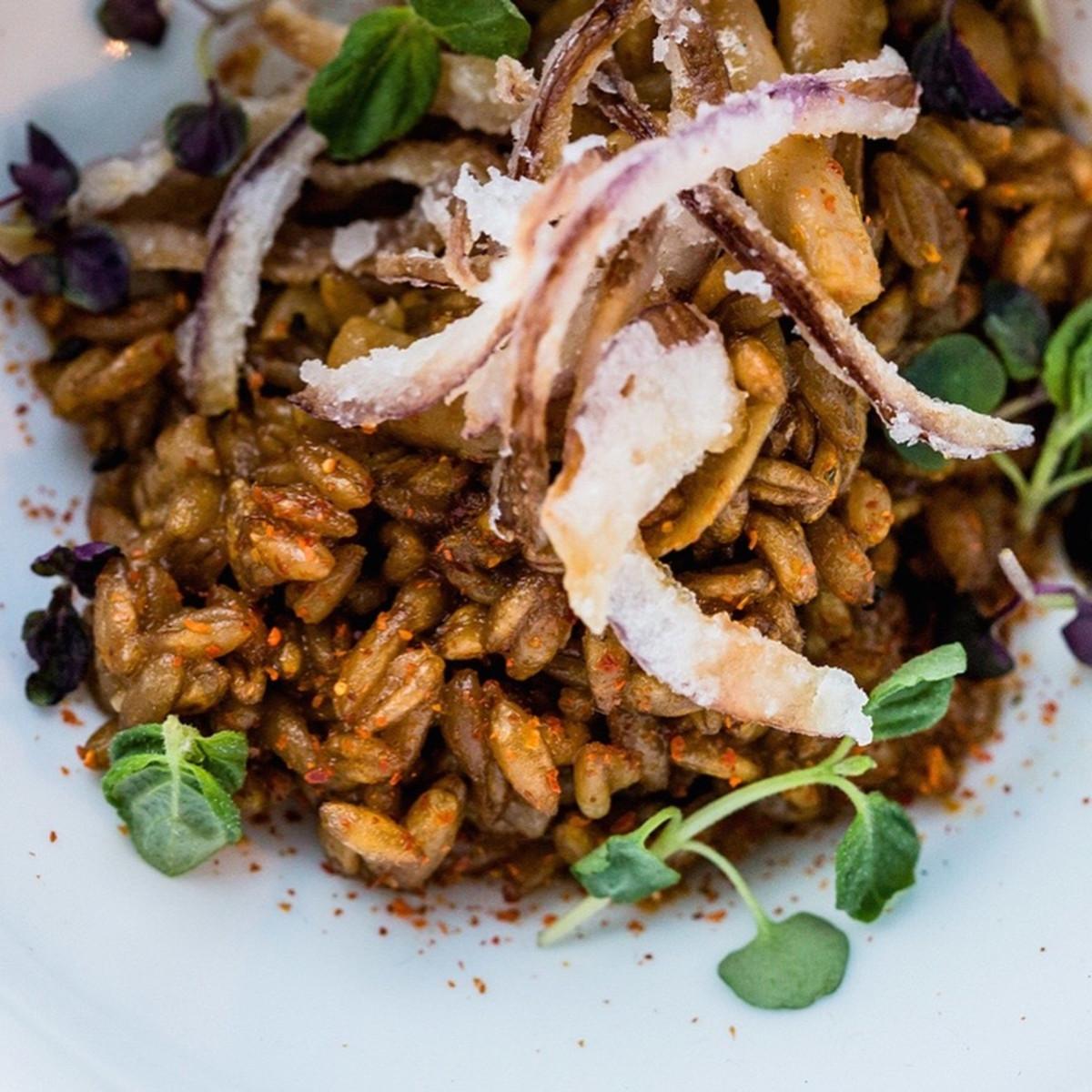 Tim Archuletta Indie Chefs Week dashi farro