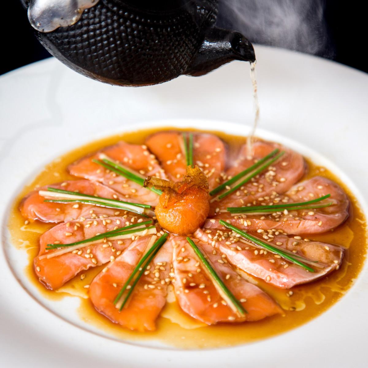 Nobu salmon sashimi
