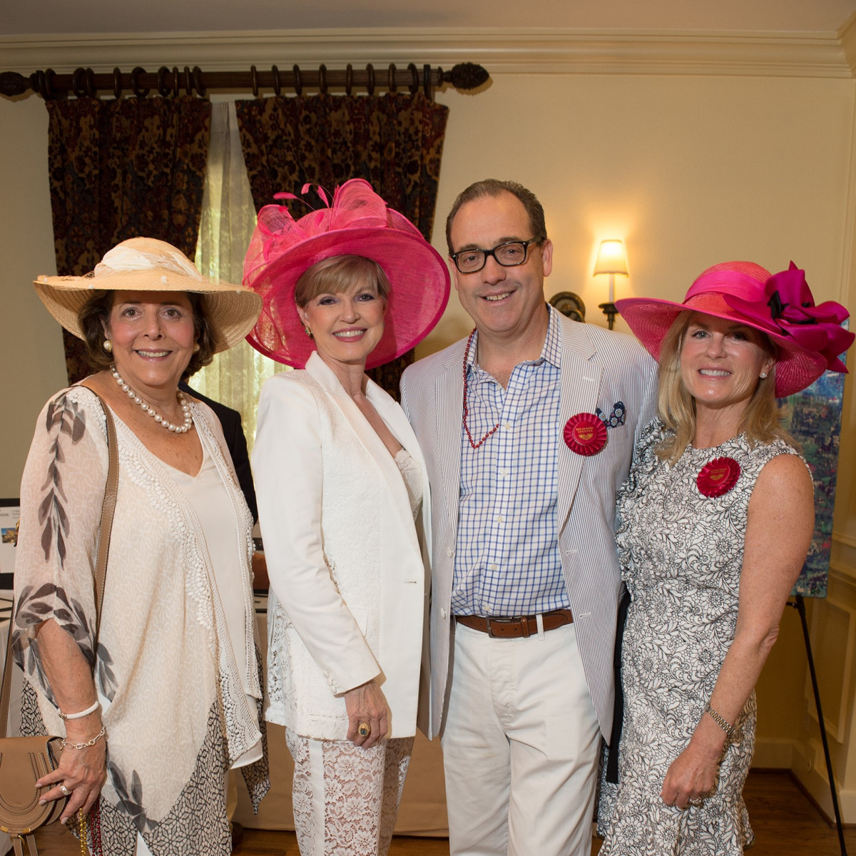 Day at the Races 2018, Neddie Lynn, Donna Weitzman, Marshall Mills and Becky Mills