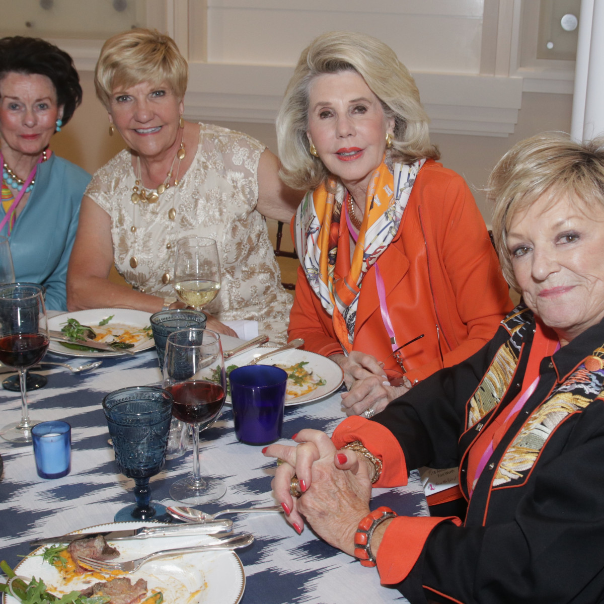 Texas Women for the Arts, Linda Gibbons (Dallas), FW Mayor Betsy Price, Sharon McCullough (Dallas), and Patsy Donosky (Dallas) at National Cowgirl Museum