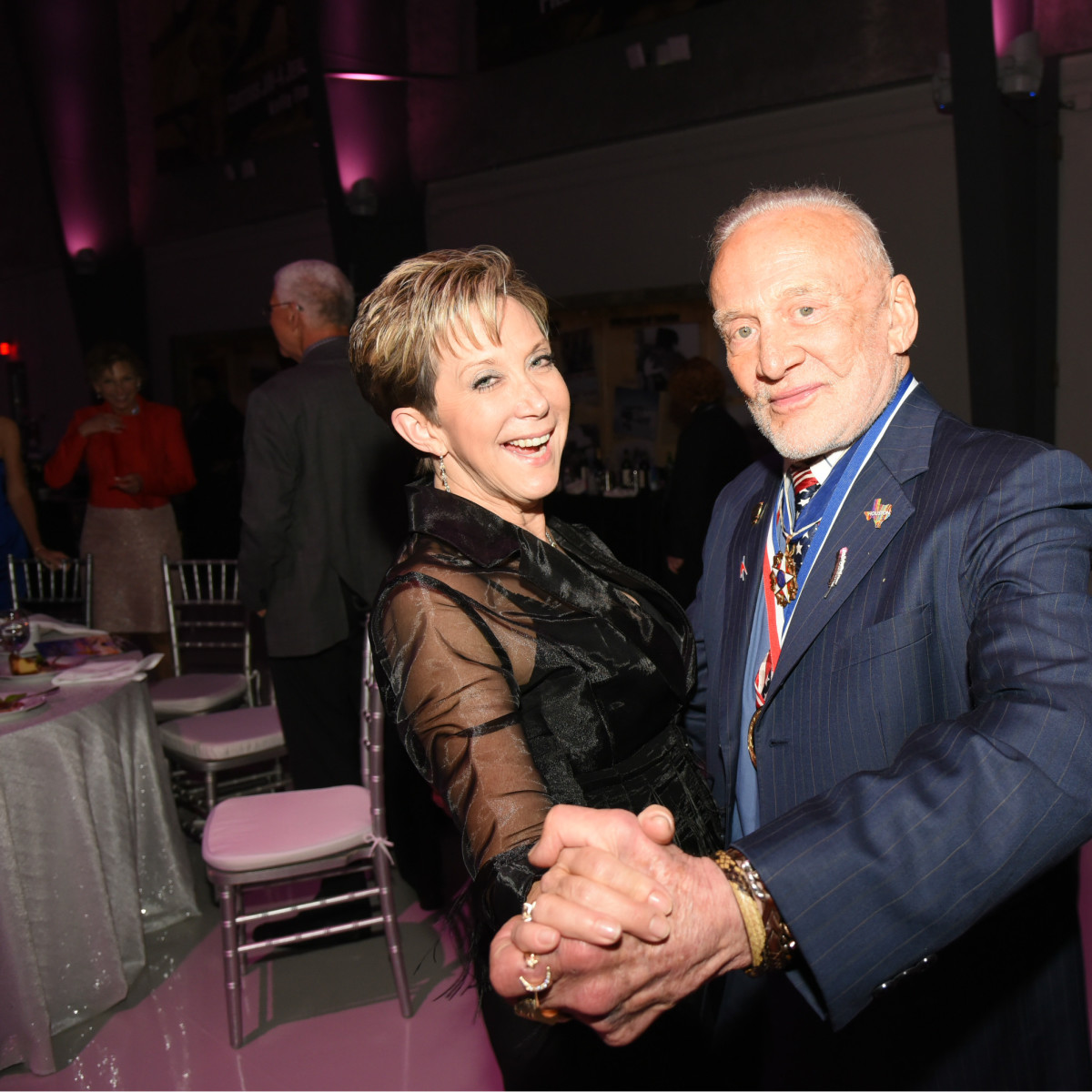 Flight Museum Gala Dayna Steele Buzz Aldrin