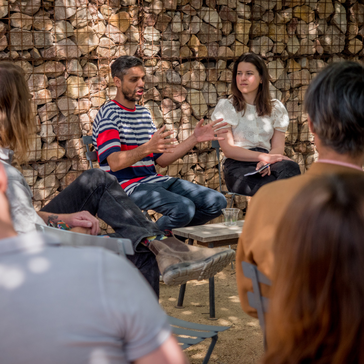 Stone Circle Marfa opening talk Haroon Mirza