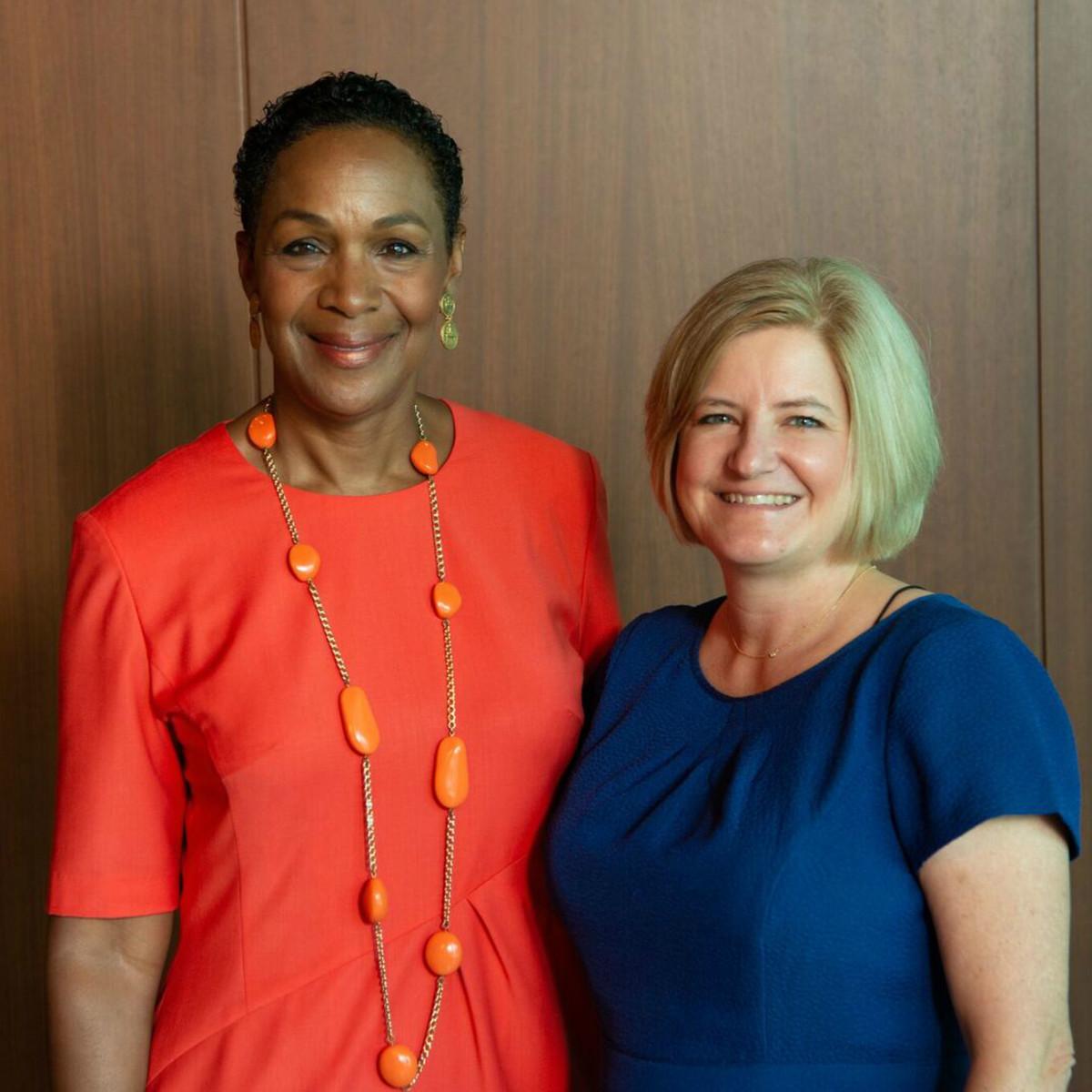 Houston CanCare Survivors Luncheon Pastor Suzette Caldwell and Cristina Vetrano