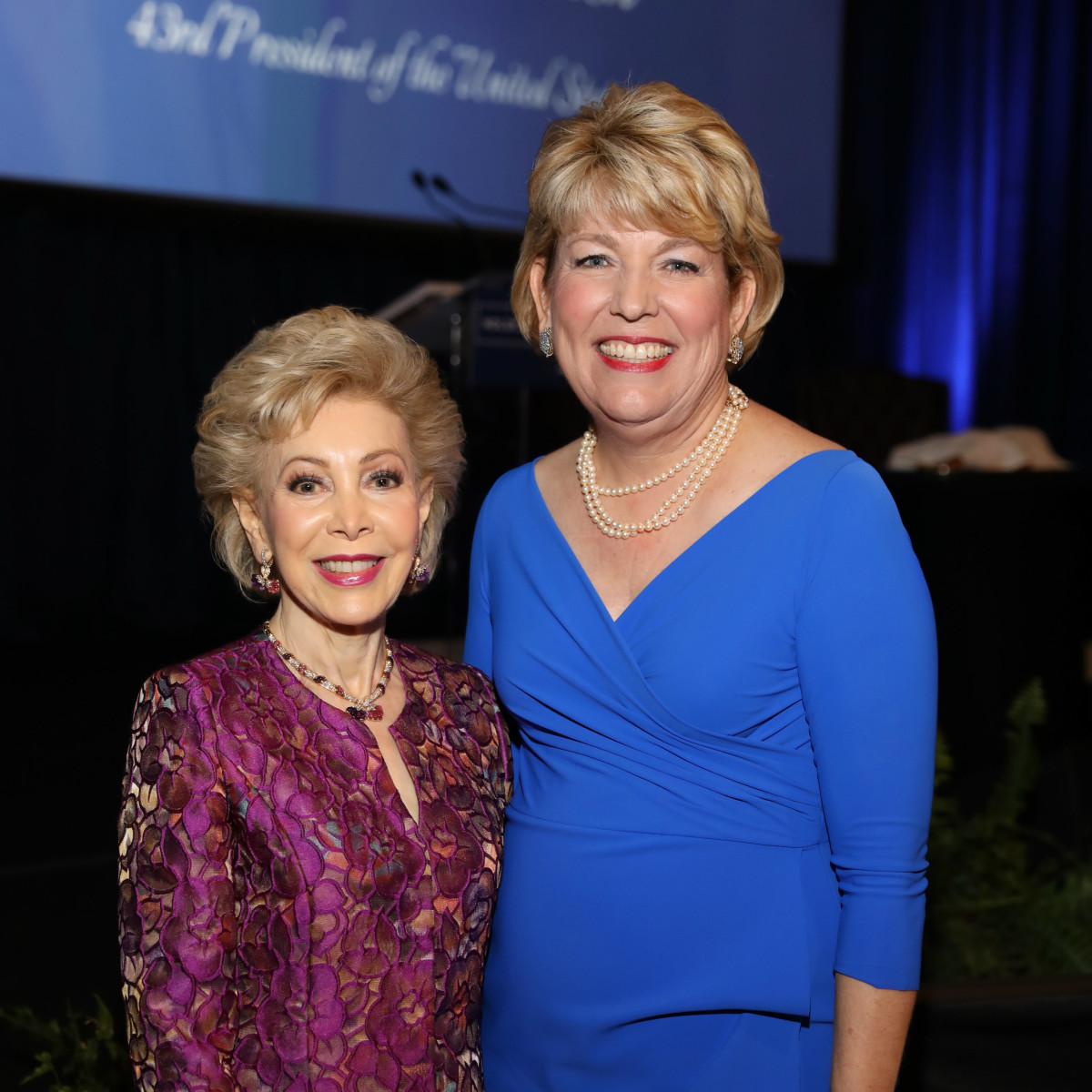 Holocaust Museum LBJ award Margaret Alkek Williams, Dr. Kelly J. Zúñiga, CEO of Holocaust Museum Houston
