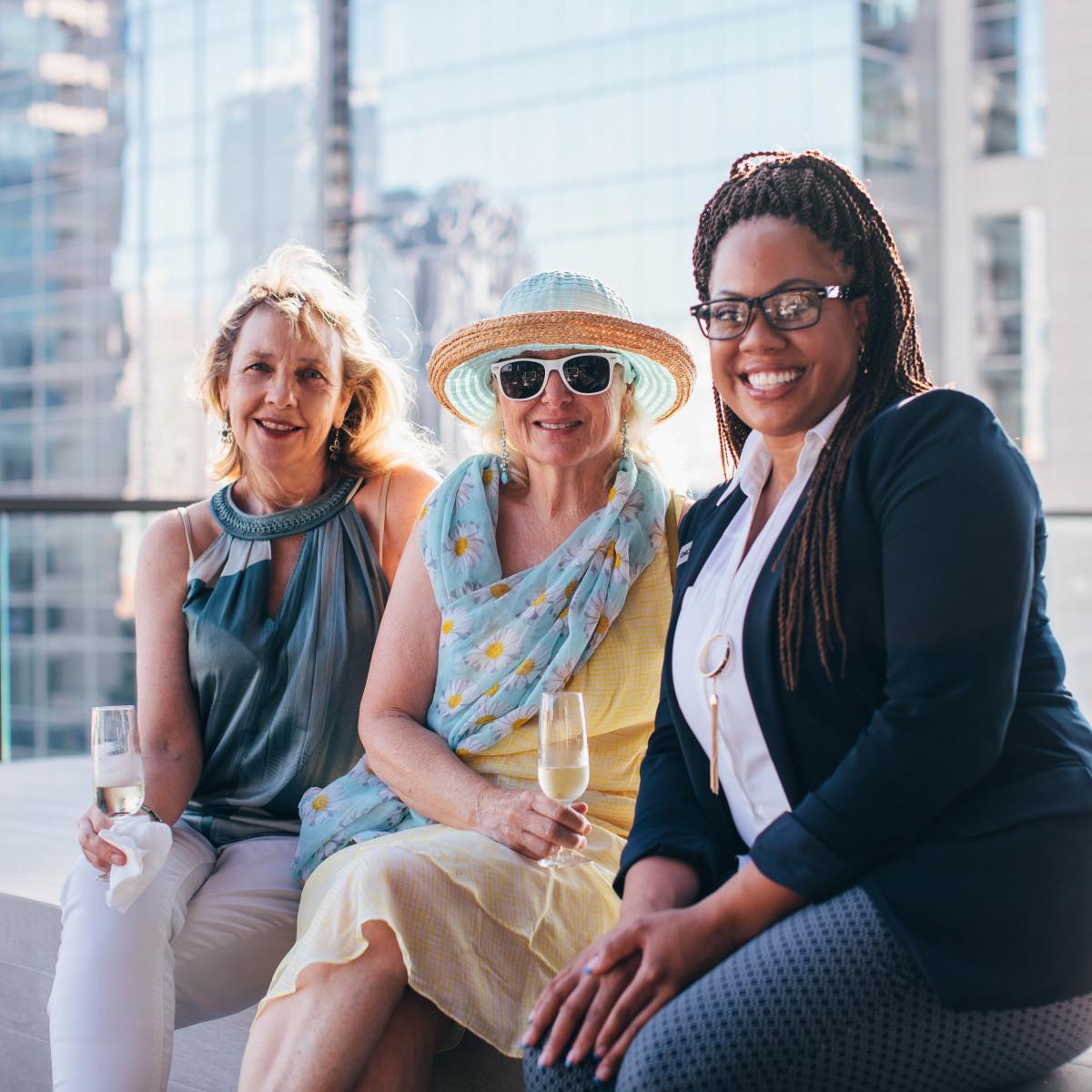 Melissa Gray, Gayle Evans, Stephanie Sims, Summer Soiree 2018