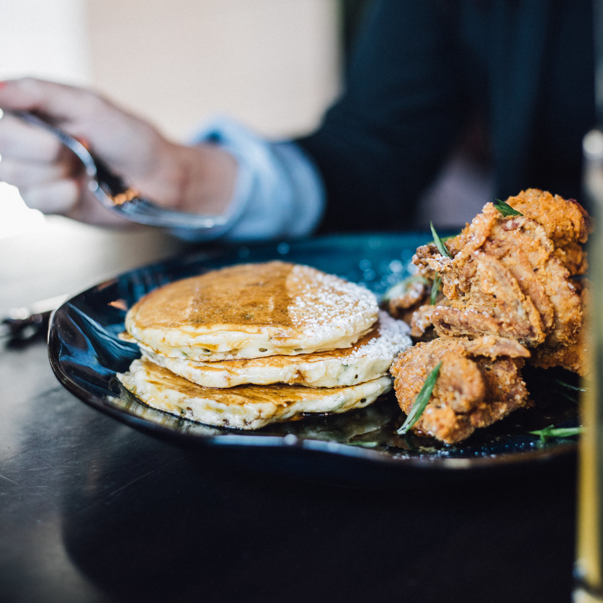 Crispy quail and hot cakes at The General Public