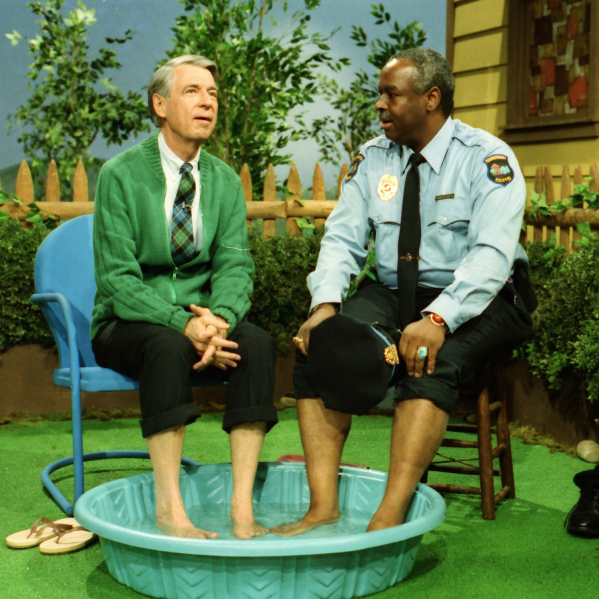 Fred Rogers and Francois Scarborough Clemmons in Won't You Be My Neighbor?