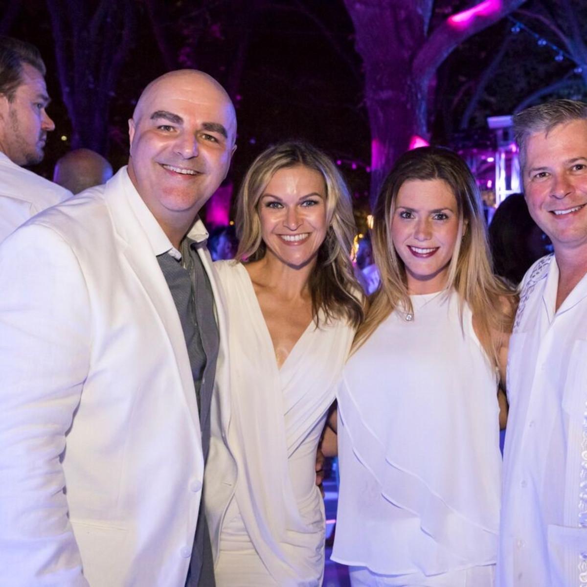 Tommy DeAlano, Krystal DeAlano, Jennifer Guidry, Mike Guidry, White Party 2018