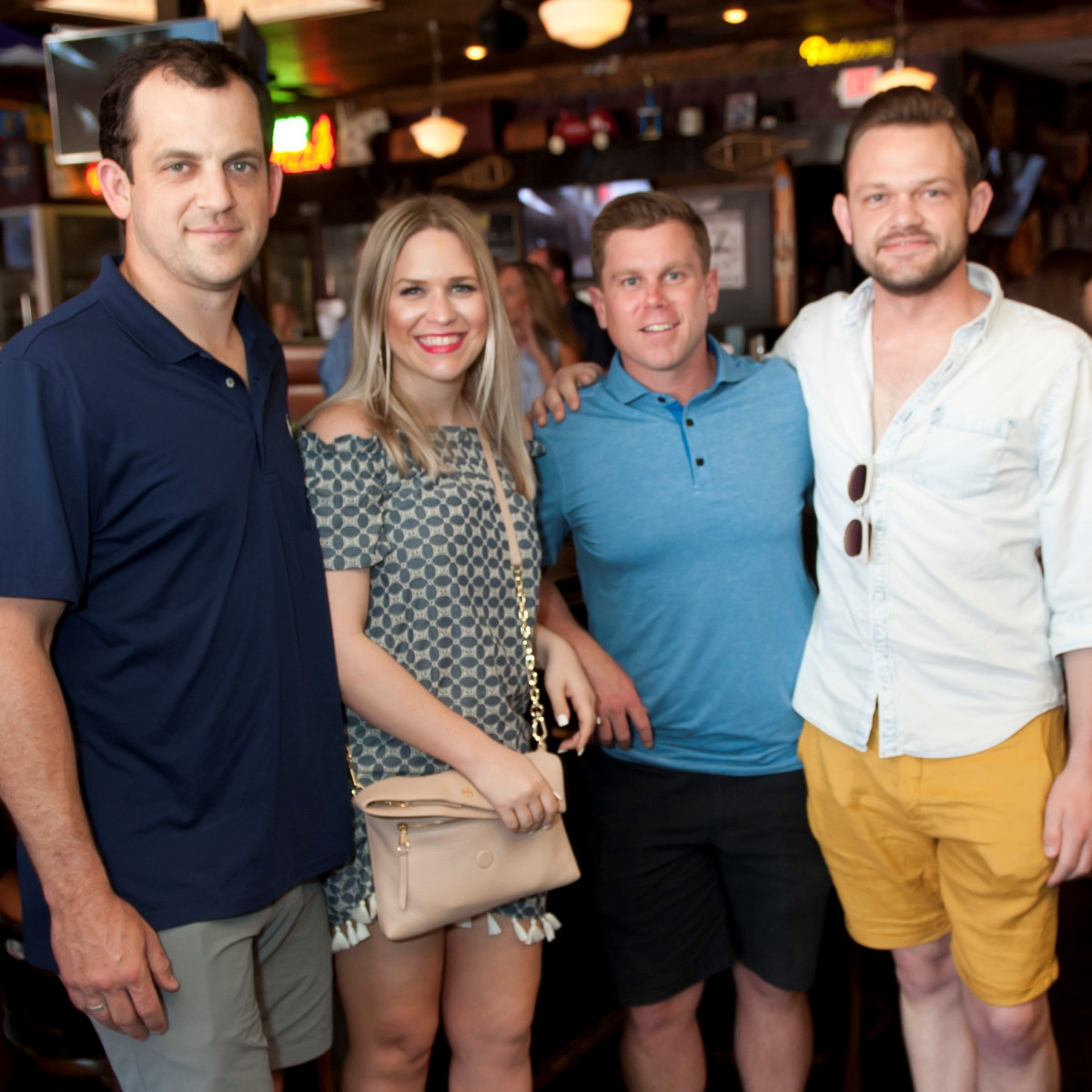 Rick and Megan Scheurer, Ryan Merz and Scriven Bernard, JDRF Brew the Cure 2018