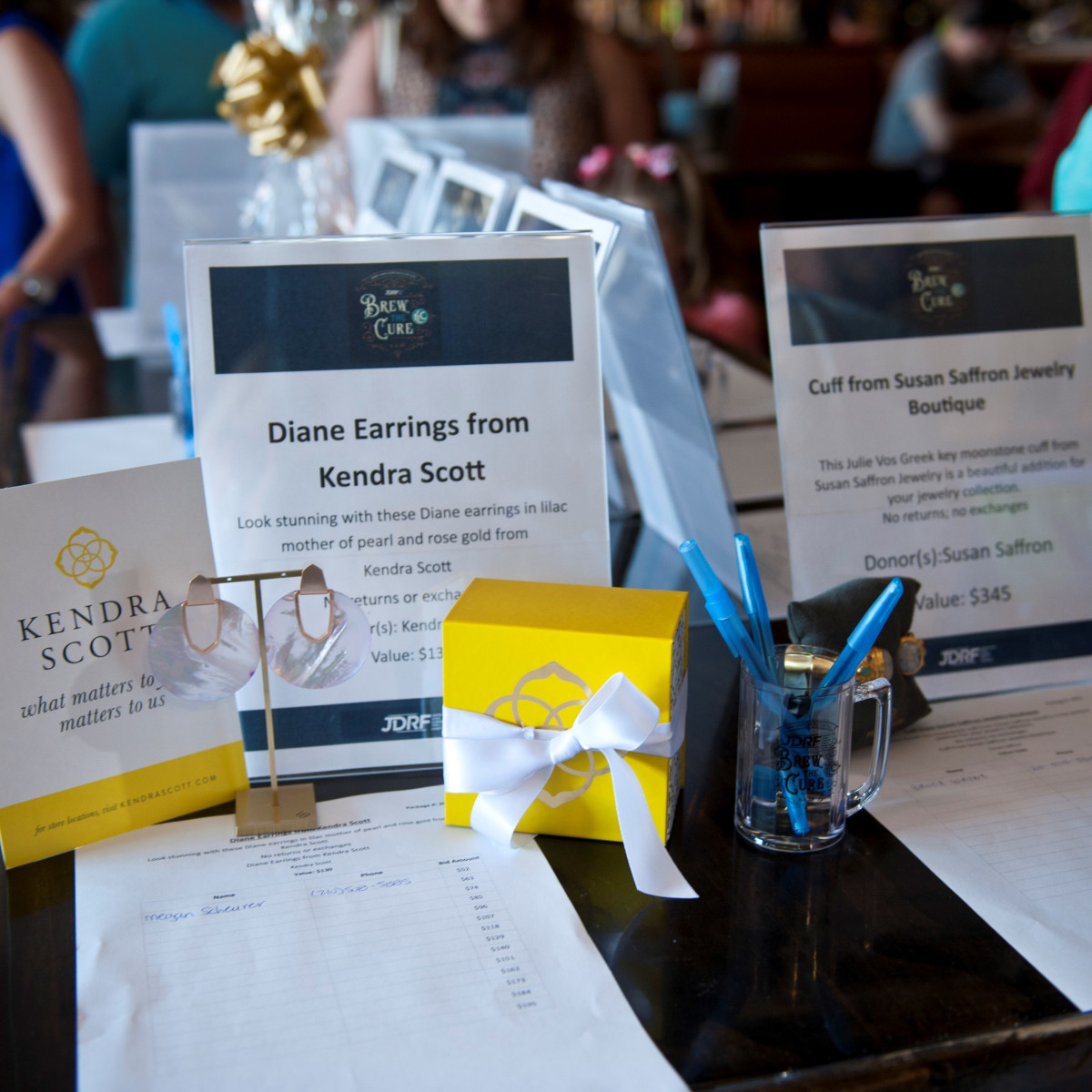 silent auction, JDRF dream gala 2018