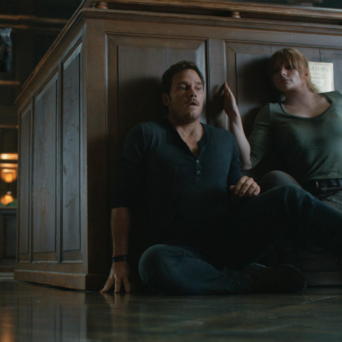 Chris Pratt and Bryce Dallas Howard in Jurassic World: Fallen Kingdom
