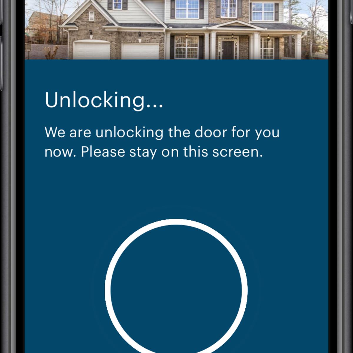 Opendoor app unlocking