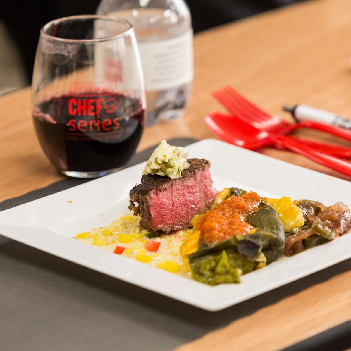 The pan-seared tenderloin filet, Empty Bowls Chefs series