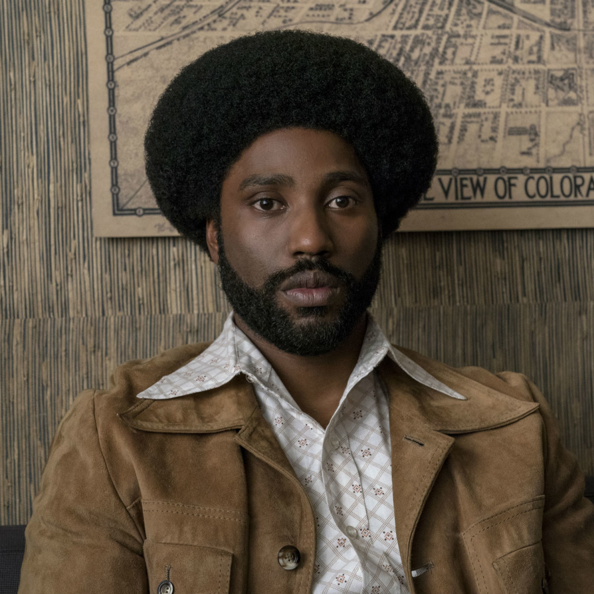 John David Washington in BlacKkKlansman