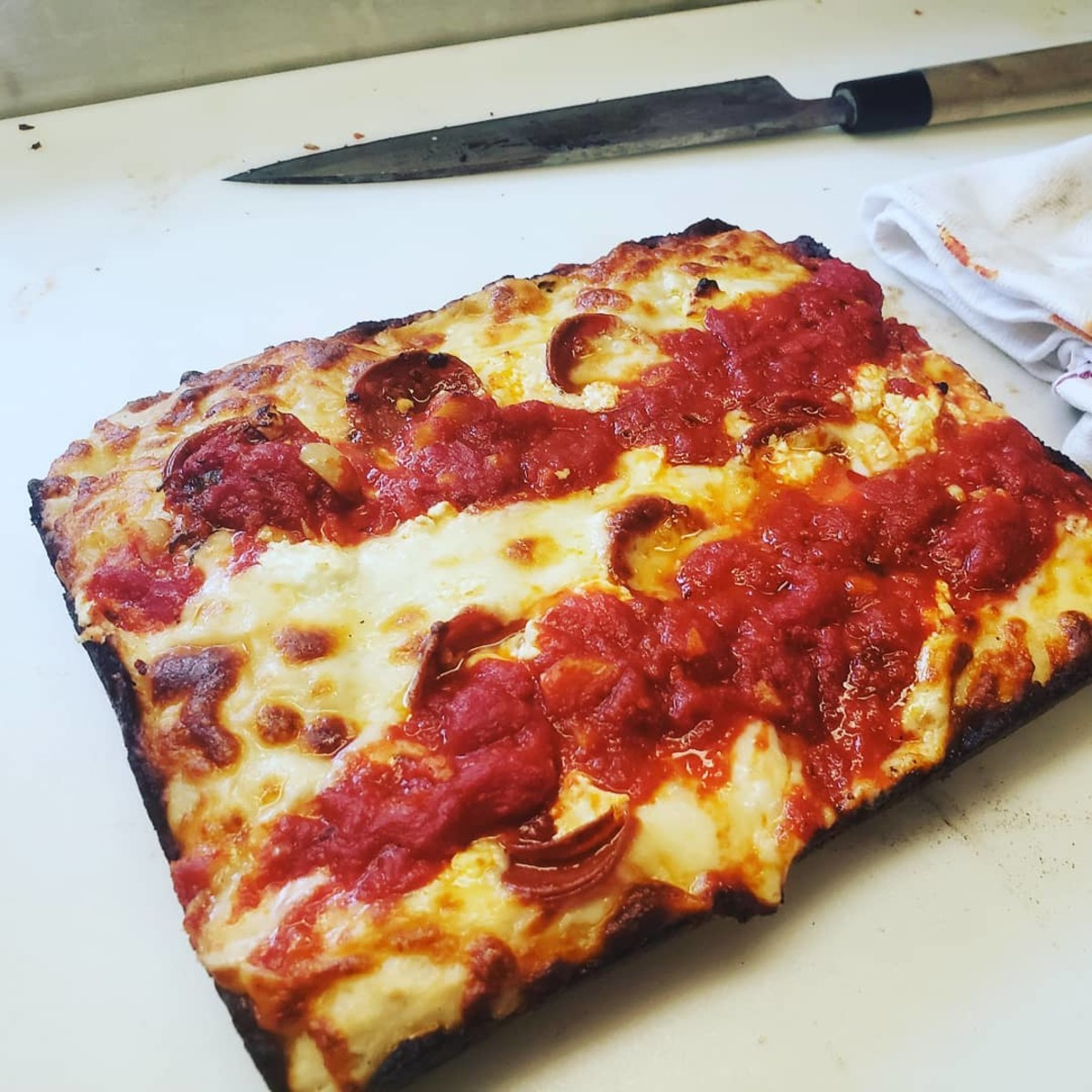 Anthony Calleo Detroit-style pizza