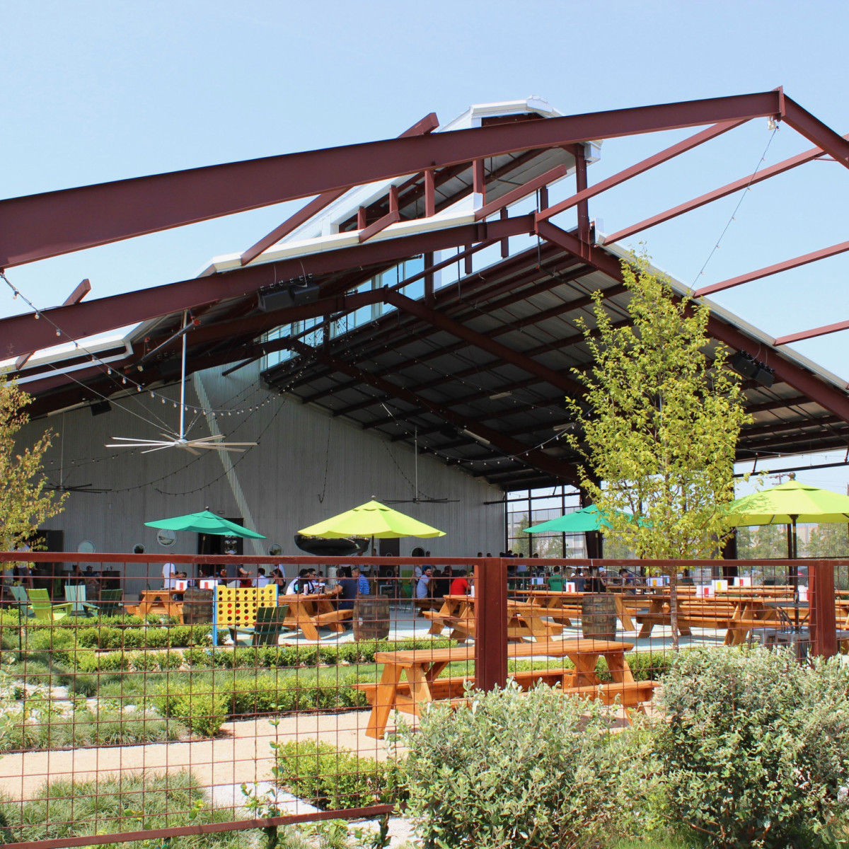 Saint Arnold beer garden exterior