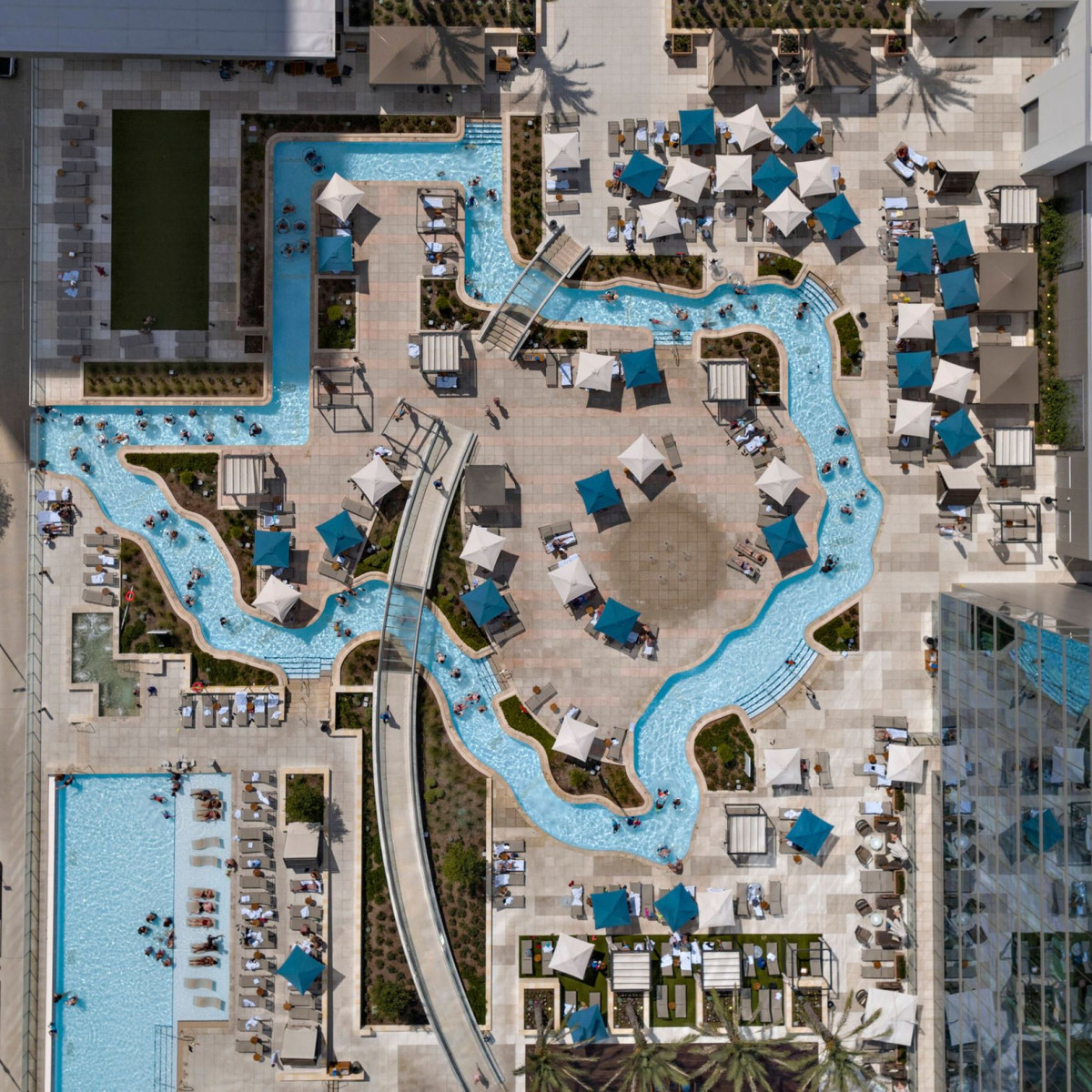 Texas-shaped lazy river
