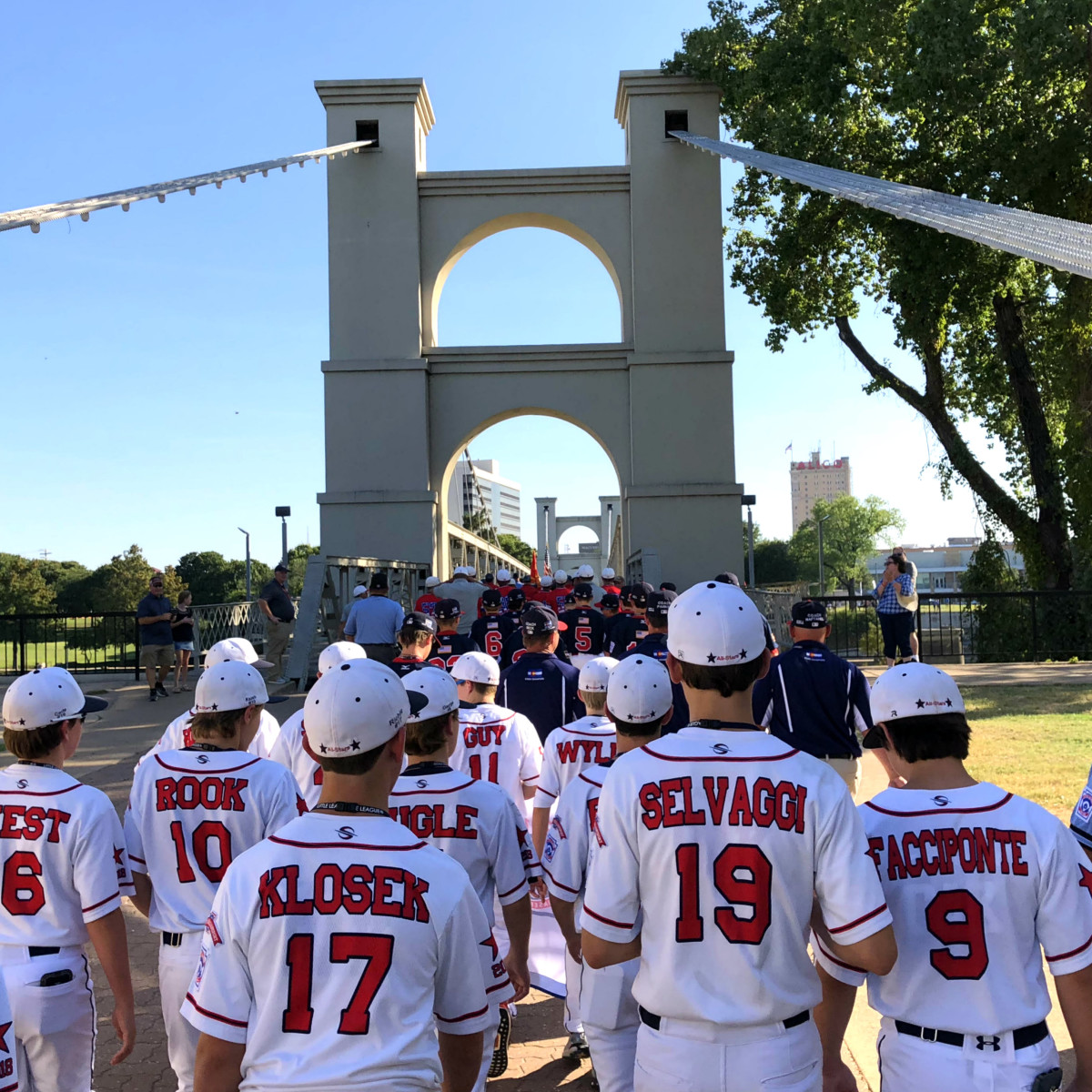 Post Oak Little League team backs walking