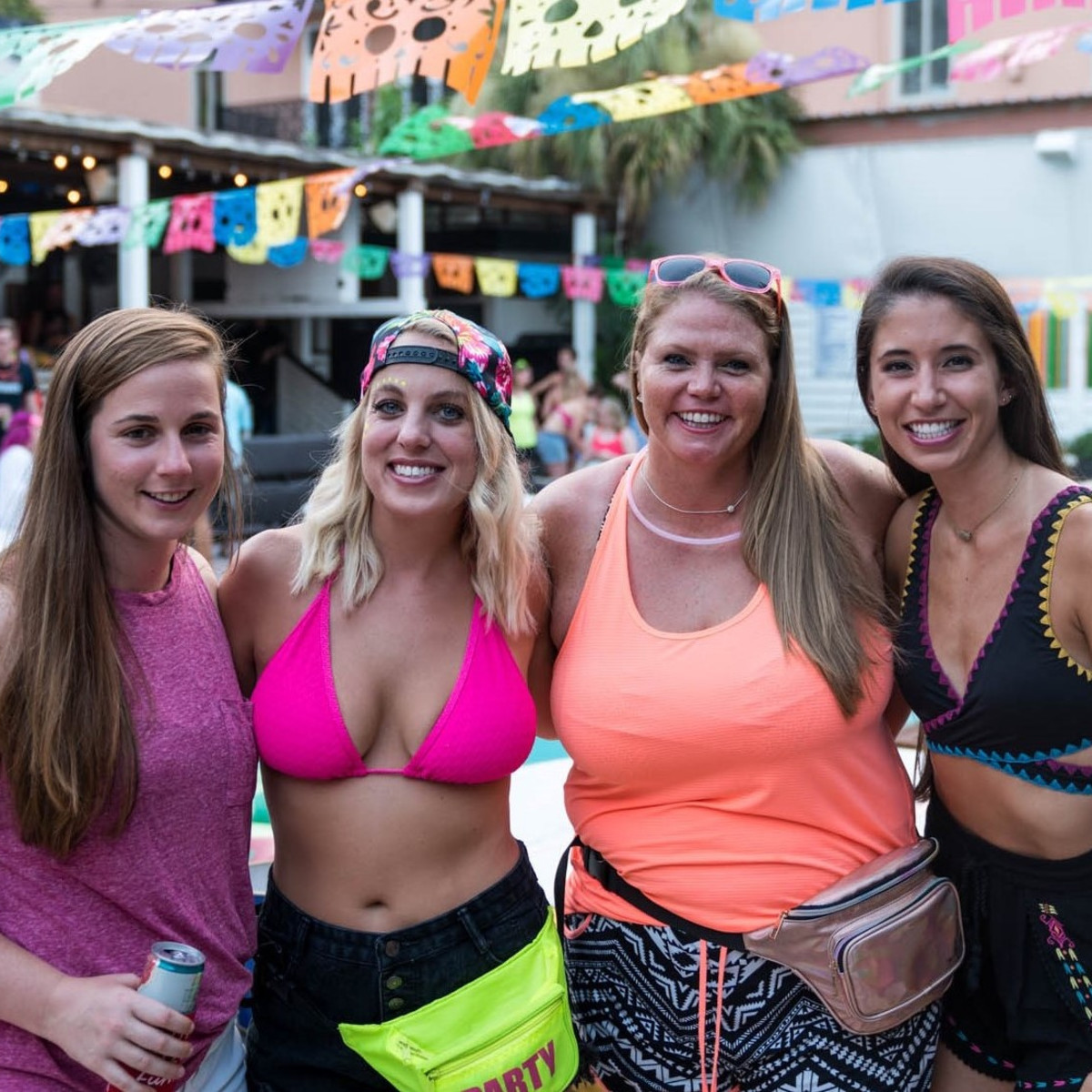 Kristi Leonard, Holley Caldwell, Stephanie Zorn, Kara Kirkby, BvB pool party