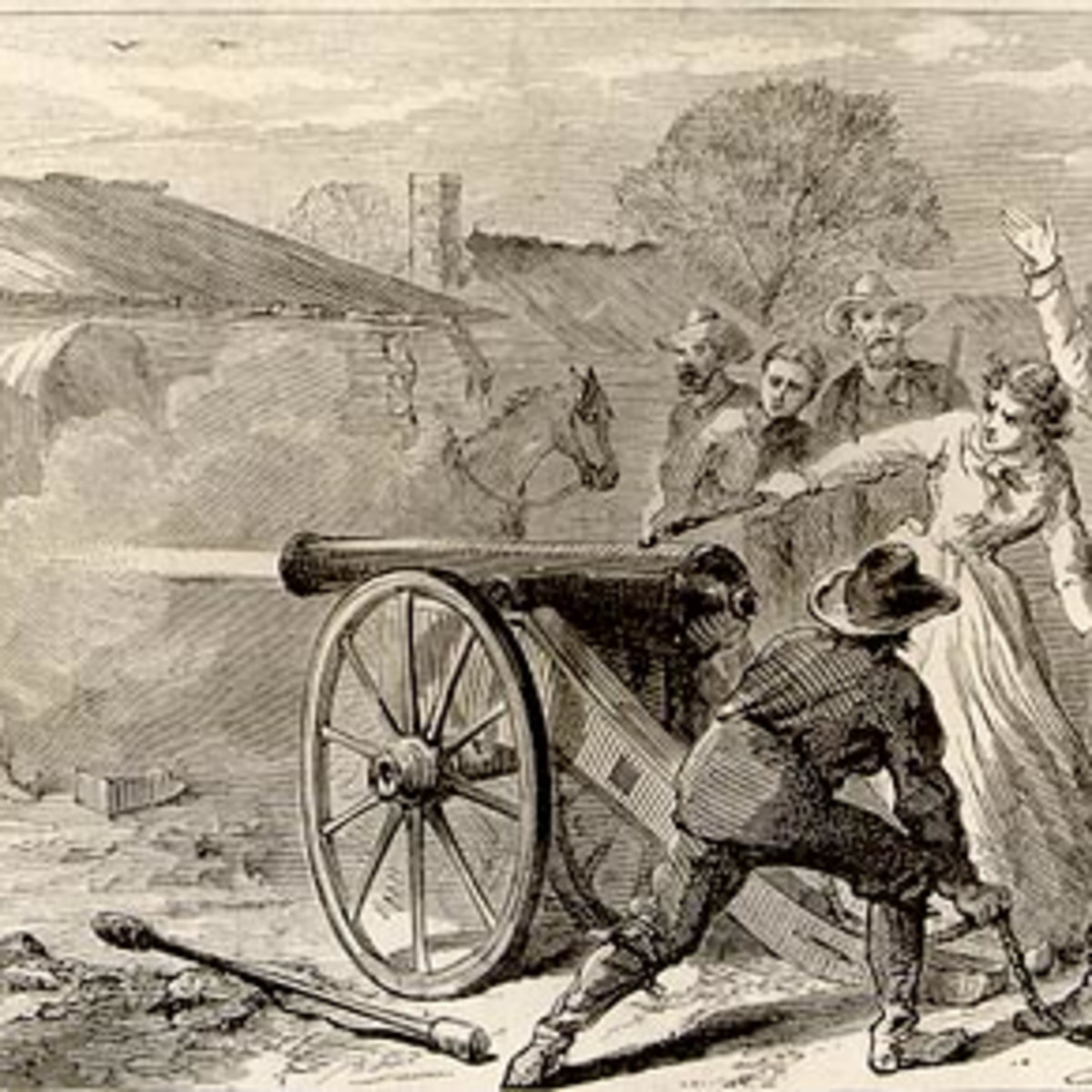 Angelina Eberly firing canon