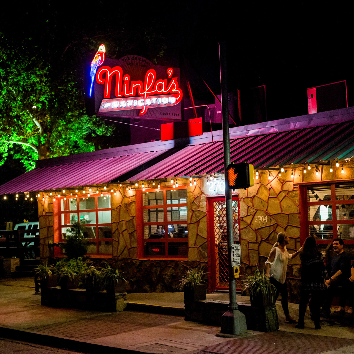 Ninfa's exterior night