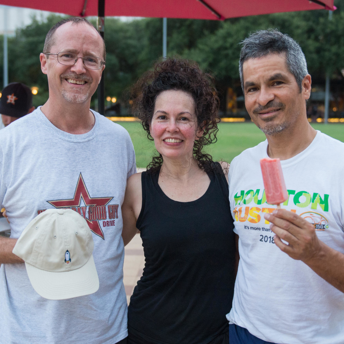 Frost It Forward Discovery Green yoga popsicle Alex Vickery, Alejandra Gonzalez, Alec Martinez