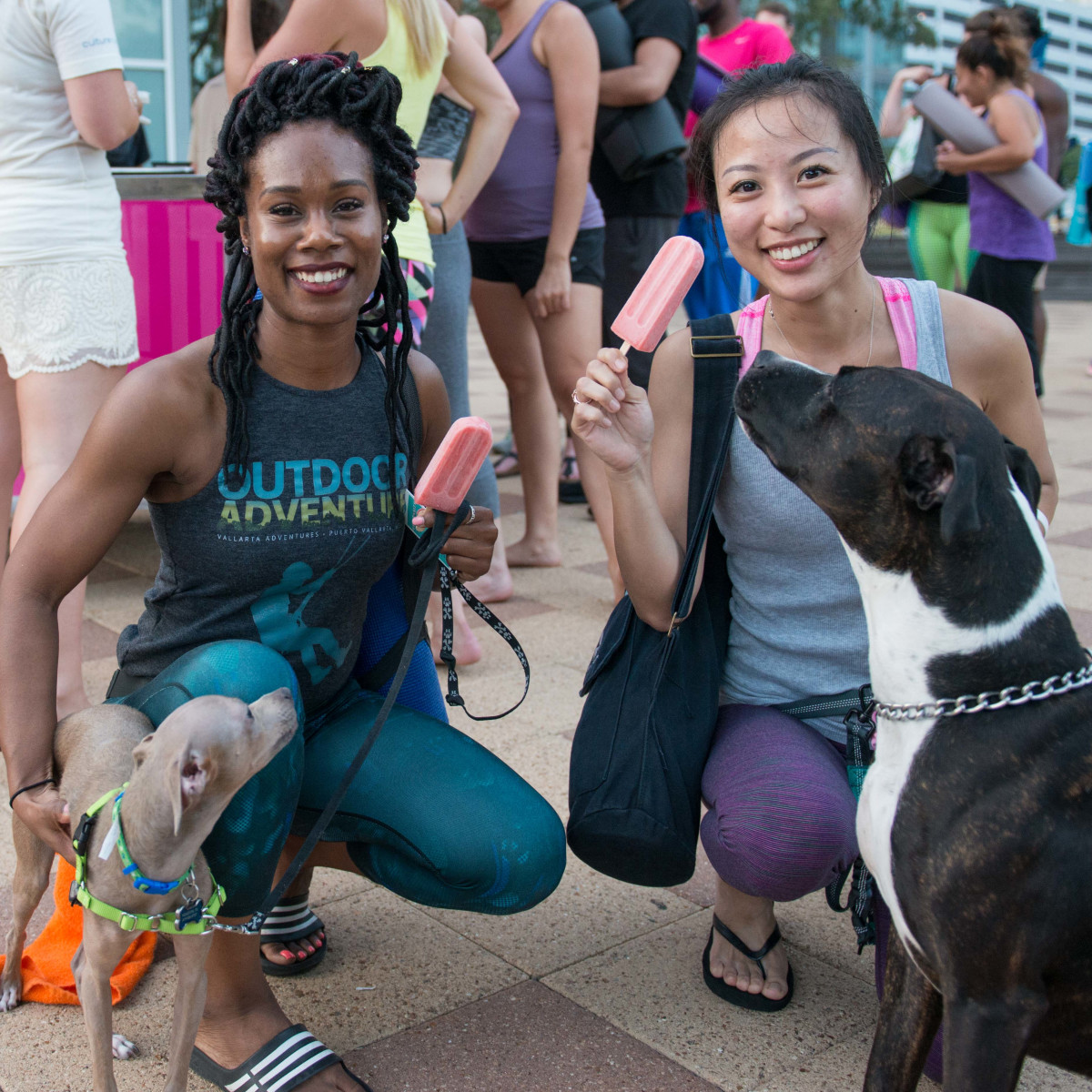Frost It Forward Discovery Green yoga popsicle Latoya Bagwell, Michelle Chang (Bruno & Charlie)