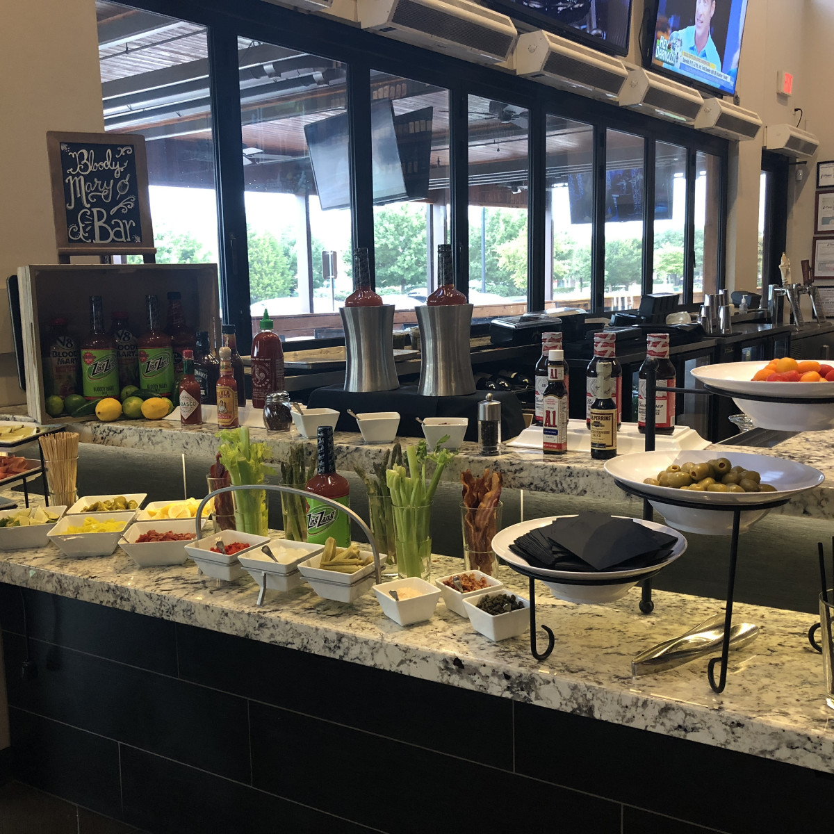 Pinstack Bloody Mary bar