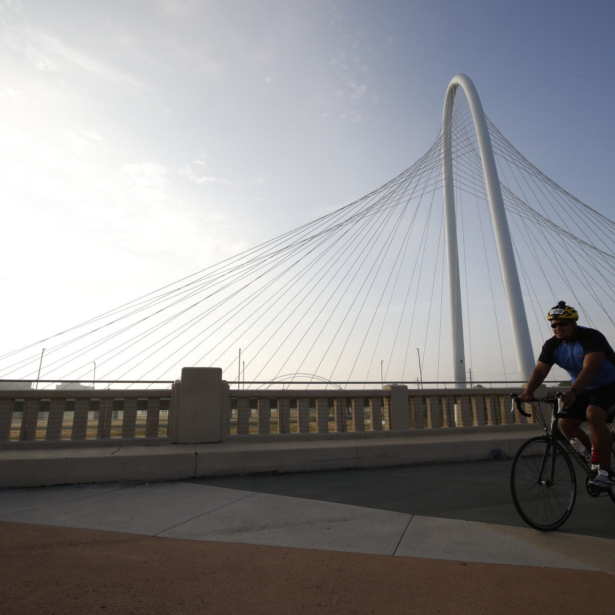 Dallas Bike Ride over Margaret Hunt Hill Bridge