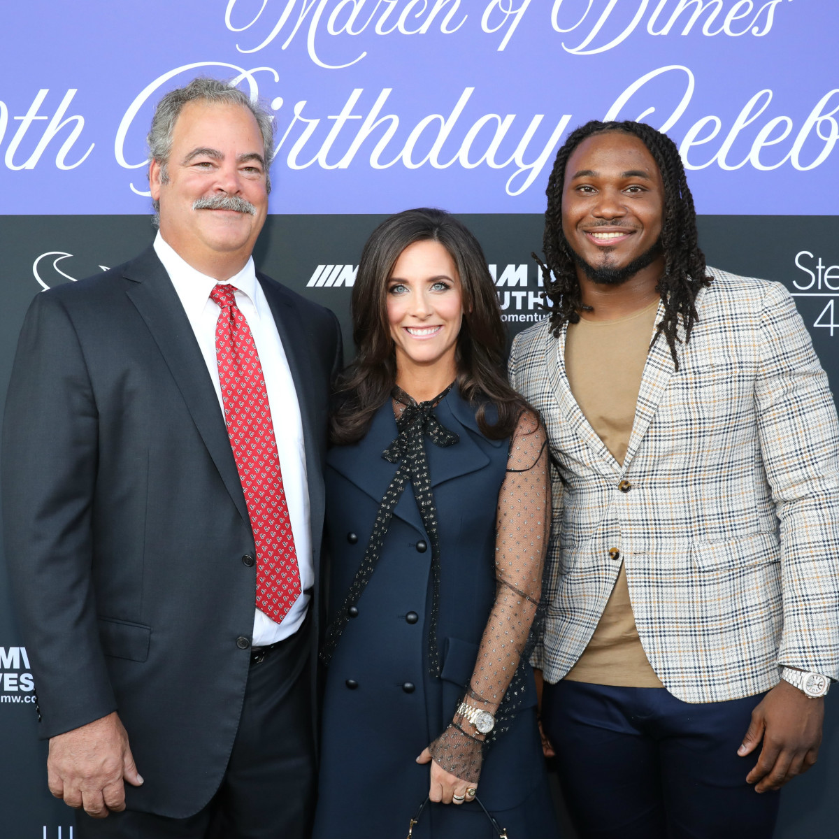 Houston Texans March of Dimes Hannah Cal McNair D'onta Foreman