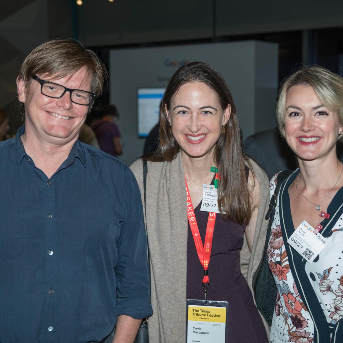 Texas Tribune Festival 2018 VIP Party at Google Steve Scheibal Corrie MacLaggan Megan Creydt