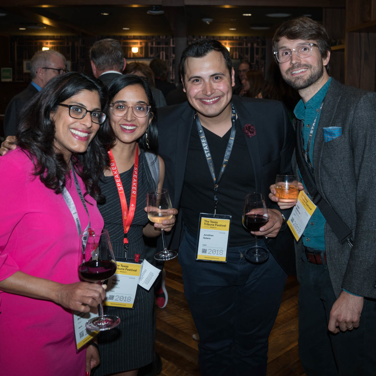 Texas Tribune Festival 2018 VIP Party at Google Renuka Rayasam Neena Satija Jonathan Solano Todd Wiseman