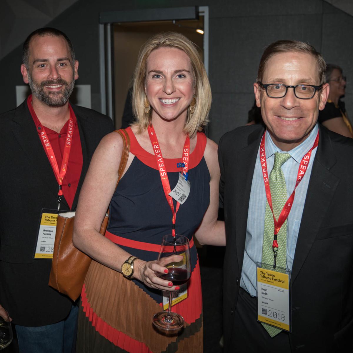 Texas Tribune Festival 2018 VIP Party at Google Brandon Formby Emily Ramshaw Evan Smith