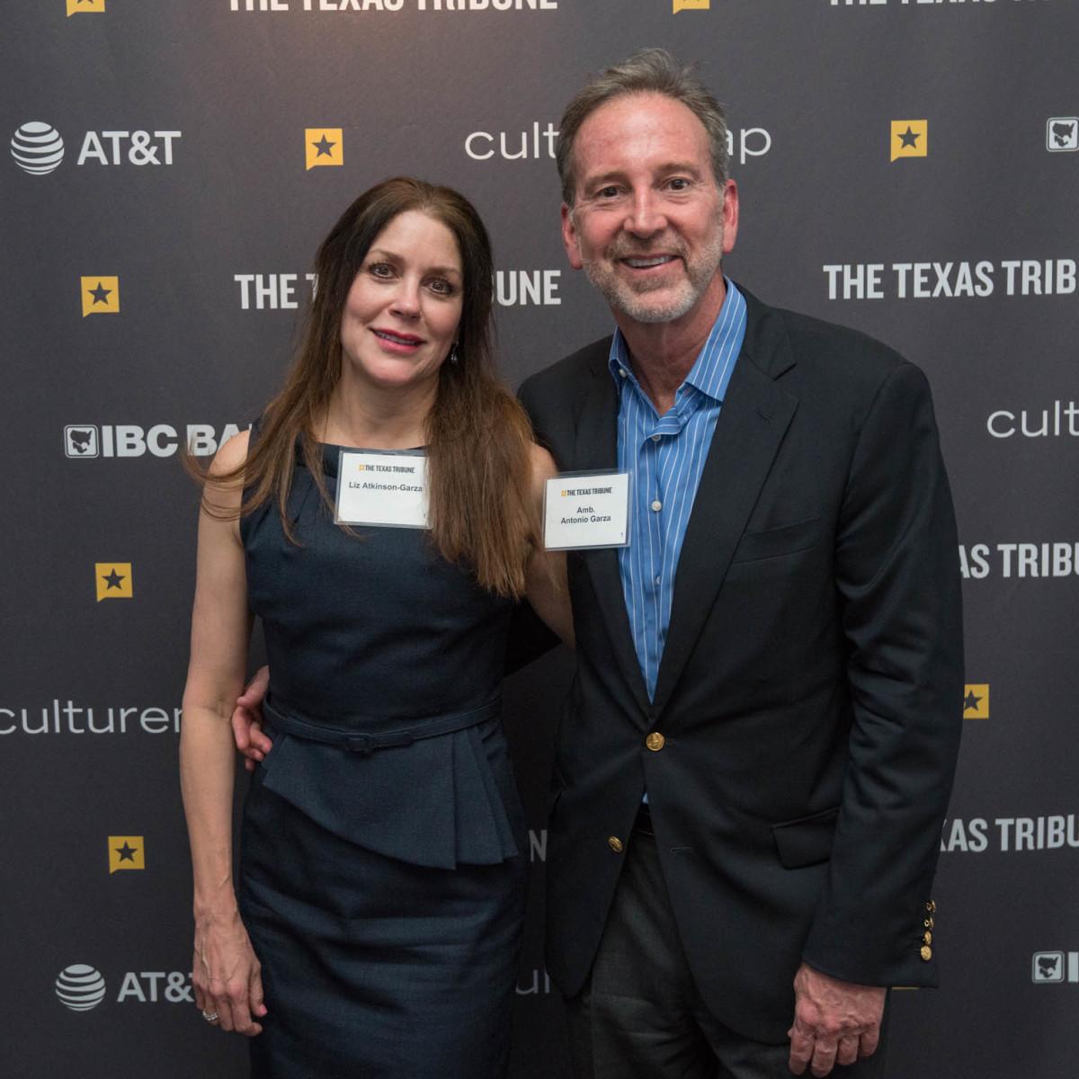 Texas Tribune Festival 2018 VIP Cocktail Hour at Brazos Hall Liz Atkinson-Garcia Ambassador Antonio Garza