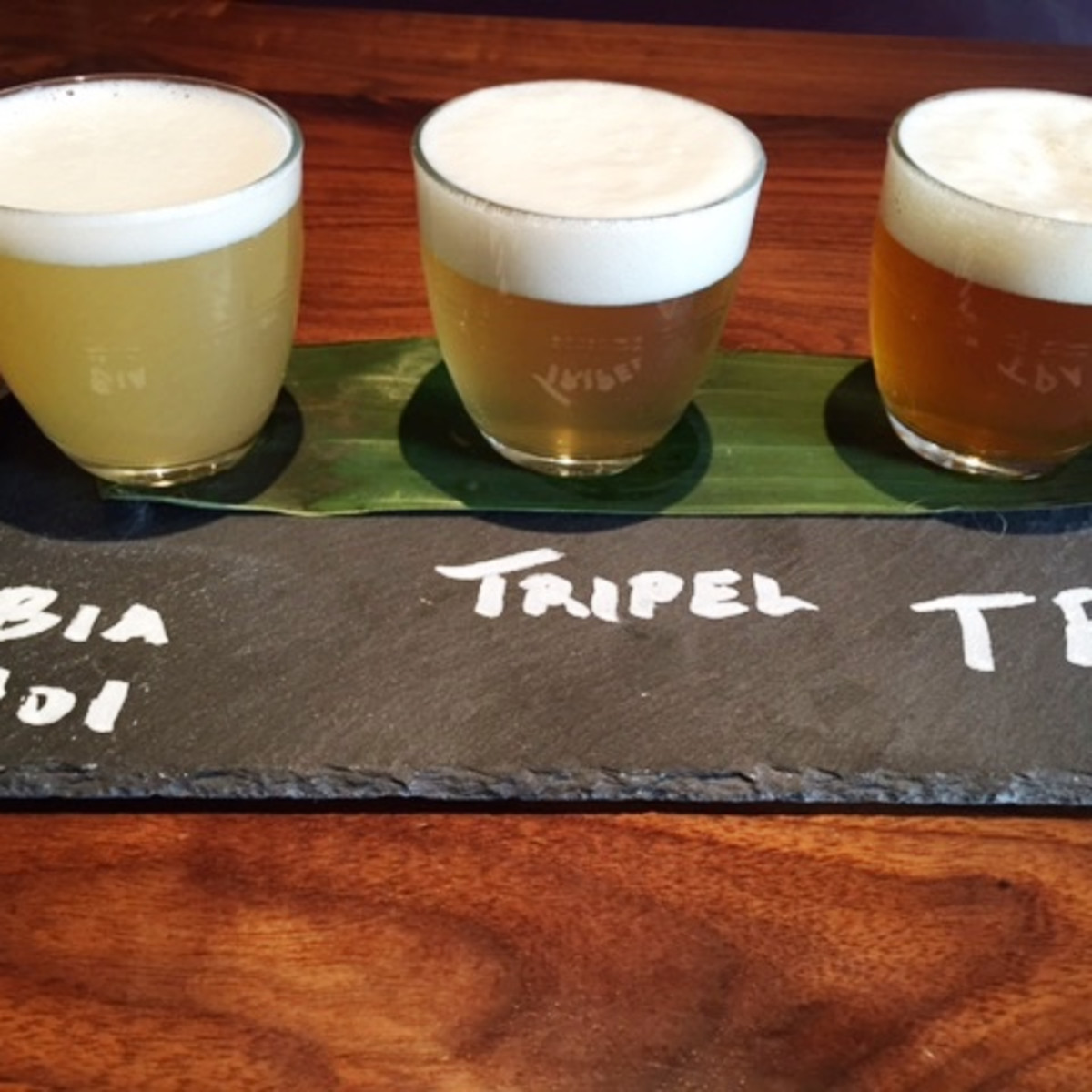 Malai Kitchen beer flight