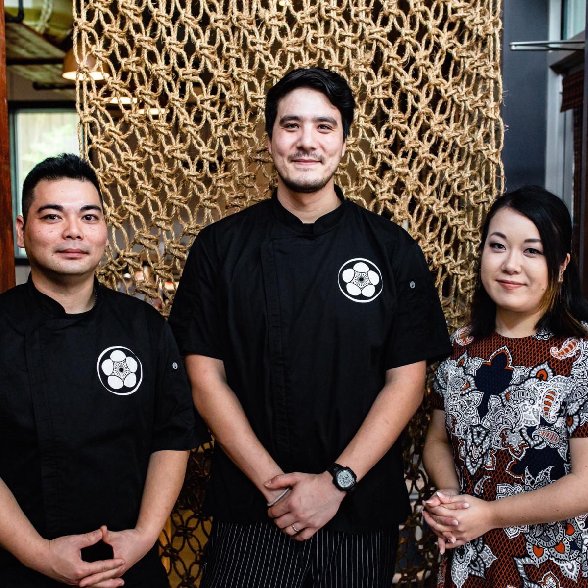 Shun Japanese Naoki Yoshida, Nick Hill, Renee Yoshida