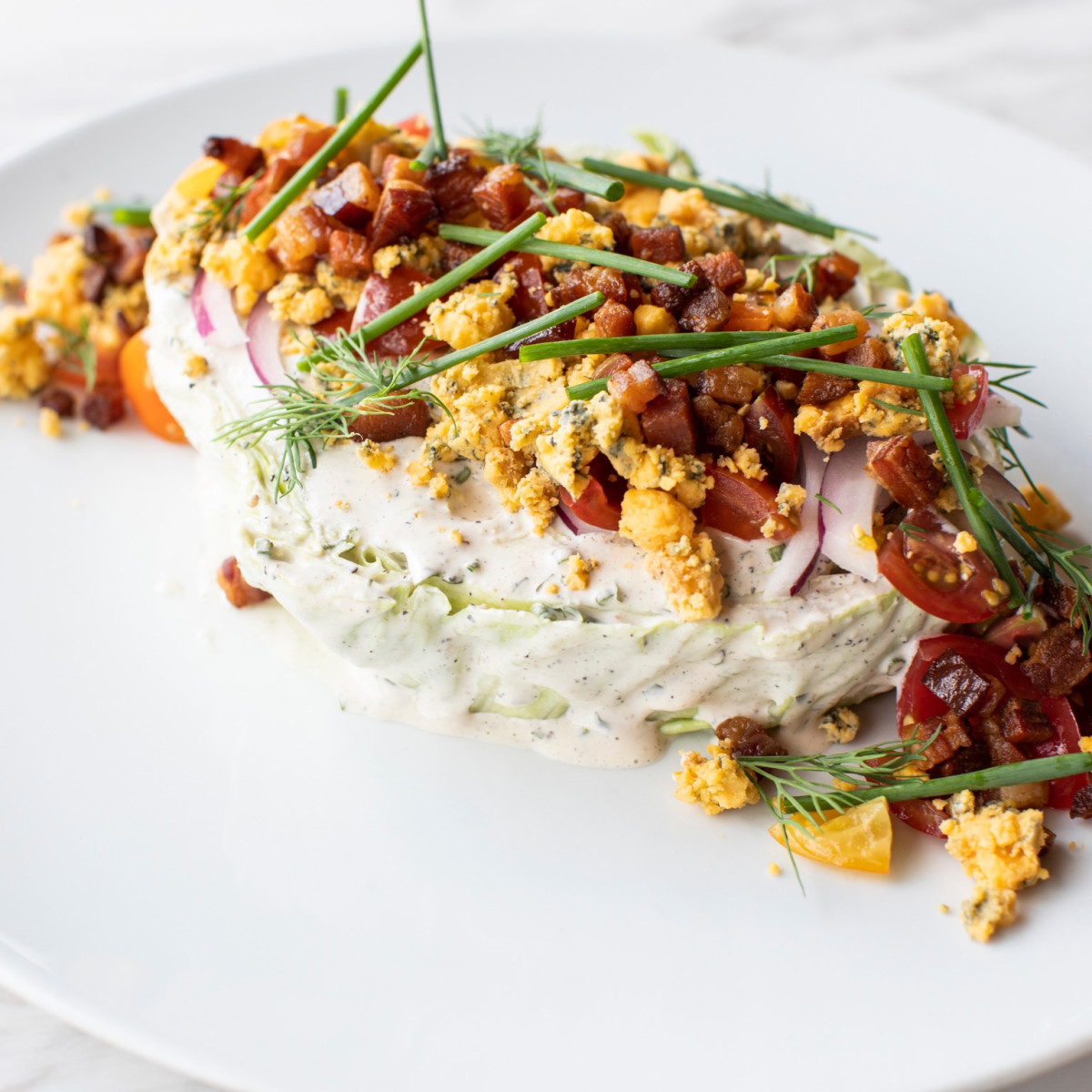 Georgia James steakhouse slab wedge salad