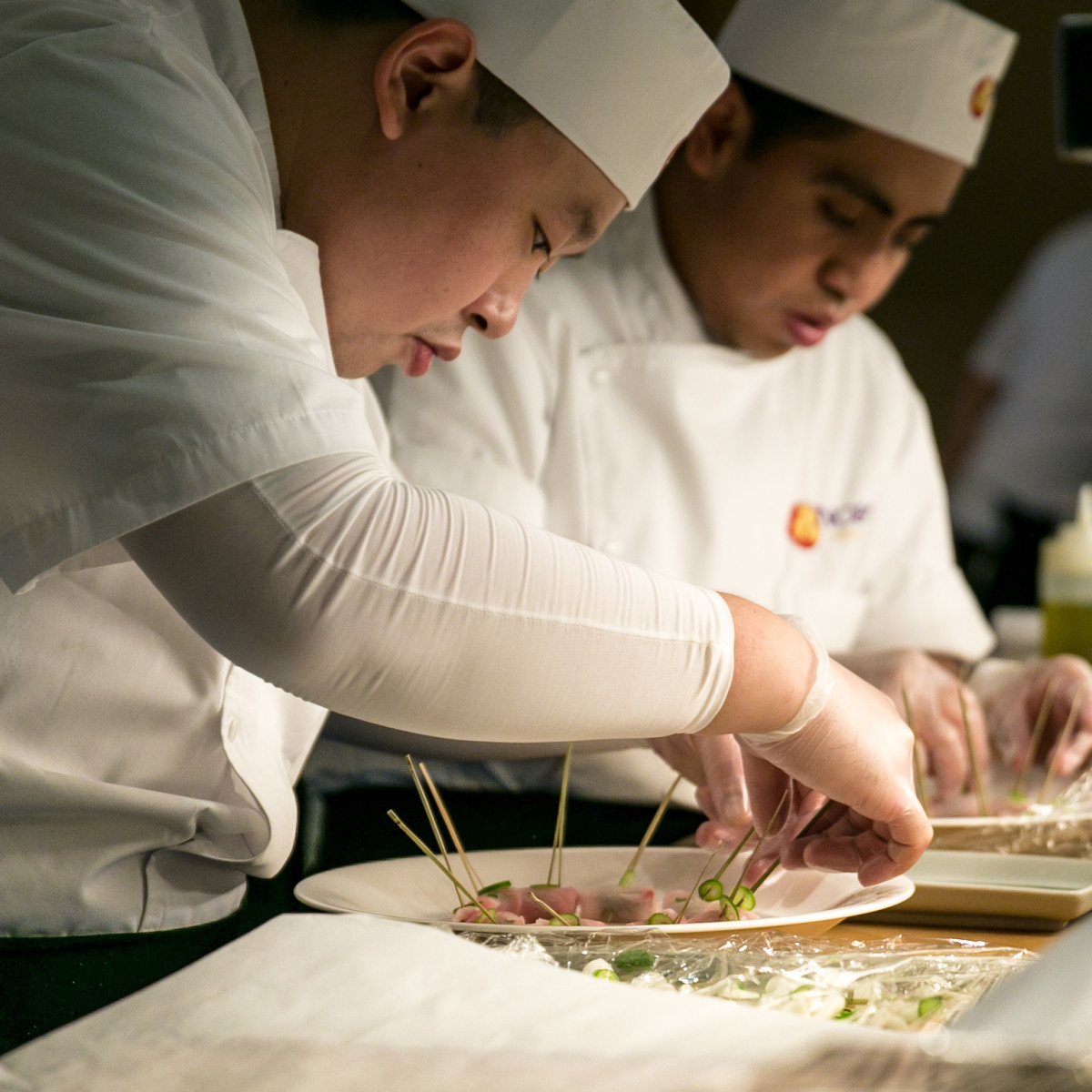 Nobu opening party chefs plating